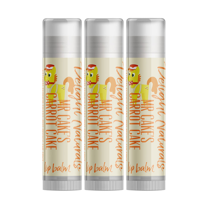 Mr Cake's Carrot Cake Lip Balm - Three Pack - delight-naturals