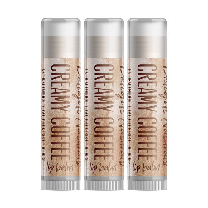 Creamy Coffee Lip Balm - Three Pack