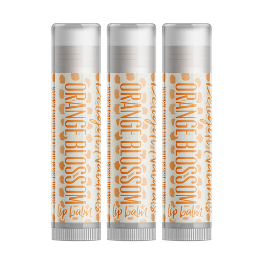 Orange Blossom Lip Balm - Three Pack - delight-naturals