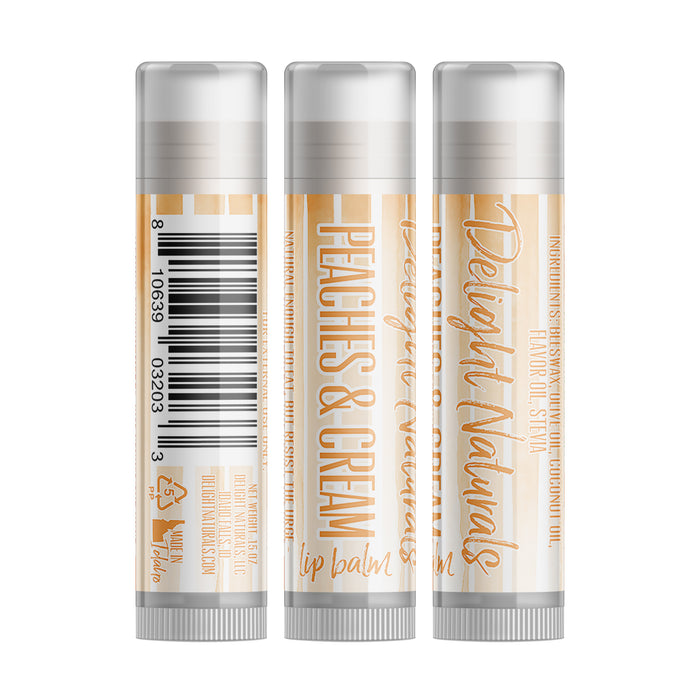 Peaches & Cream Lip Balm - Set of Three