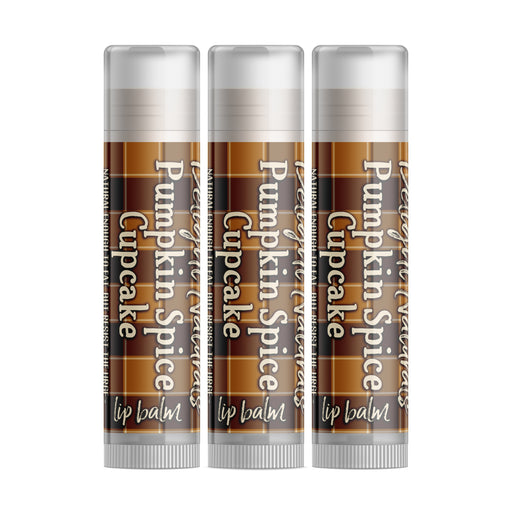 Pumpkin Spice Cupcake Lip Balm - Set of Three - Fall Flannels Limited Edition