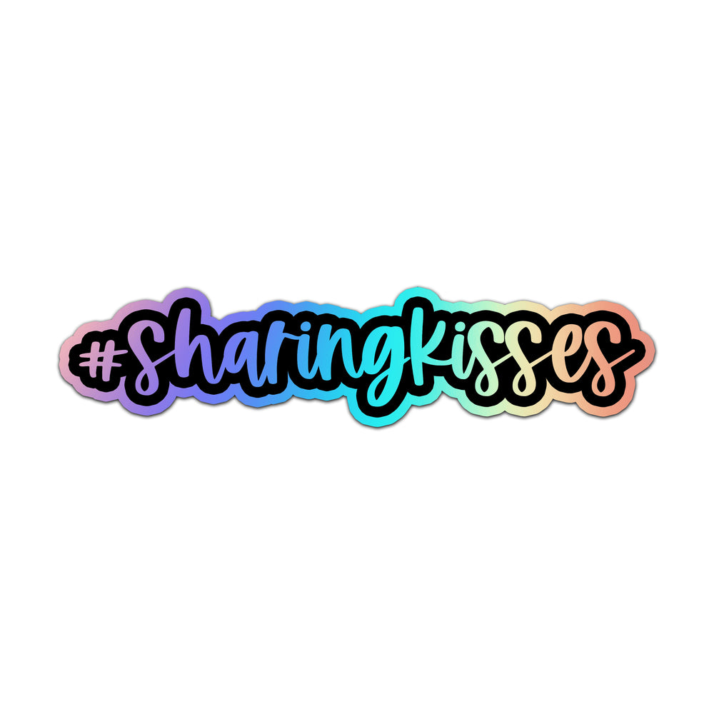 Sharing Kisses Holographic Sticker