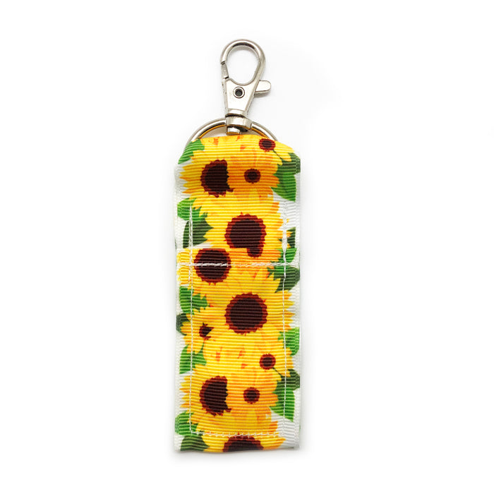 Sunflowers Lip Balm Key Chain