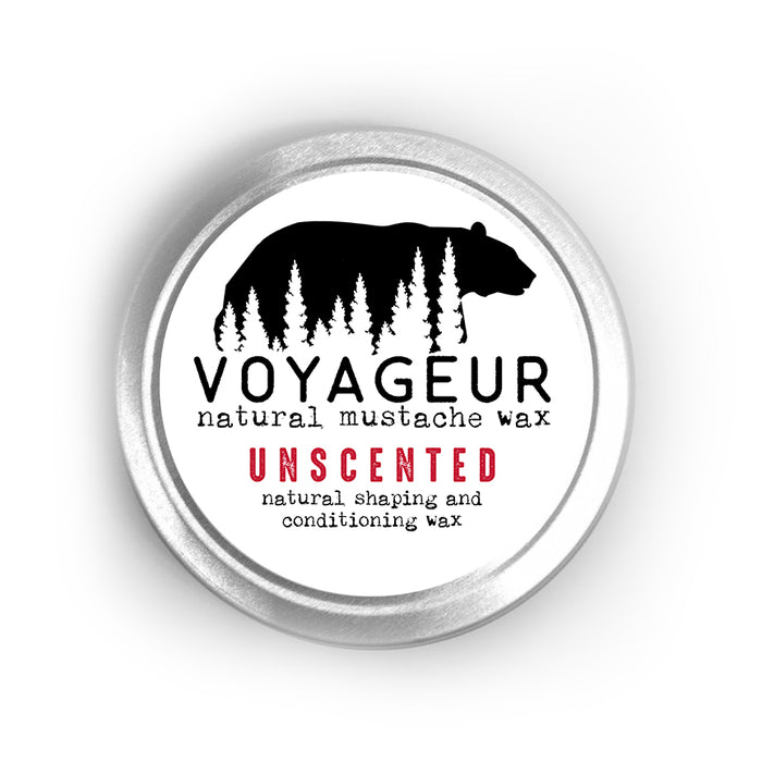 Mustache Wax Unscented - Voyageur Grooming - delight-naturals