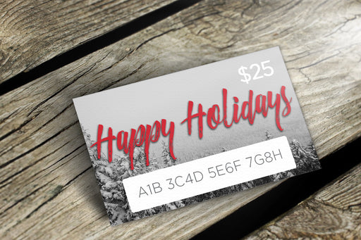 Voyageur Gift Card Happy Holidays - delight-naturals