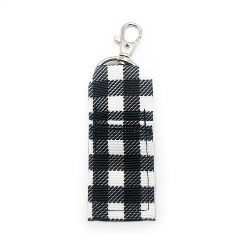 White Buffalo Plaid Lip Balm Key Chain