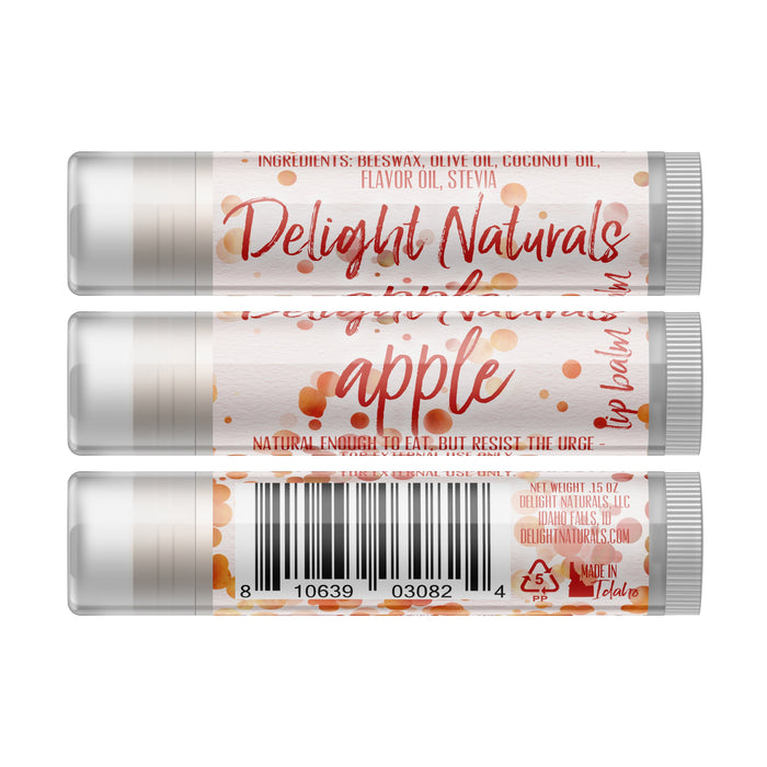 Apple Lip Balm - Three Pack