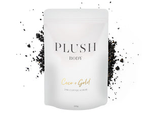 Plush Body Coco Gold 24k Coffee Scrub