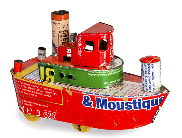 Recycled Tin Tug Boats