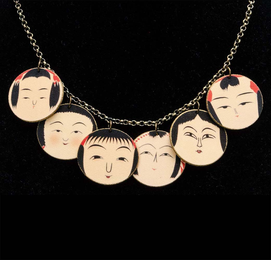 Kokeshi Necklace