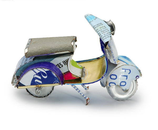 Recycled Tin Motor Scooters