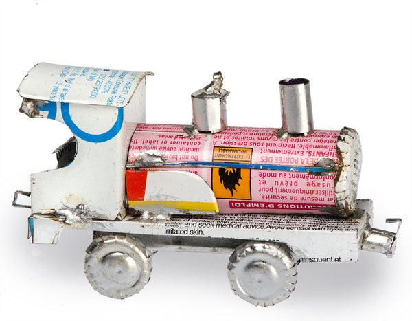 Recycled Tin Train Locomotive