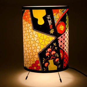 All American Game Lamp-White Star Collage