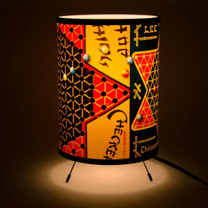 All American Game Lamp-Black Star and Marbles