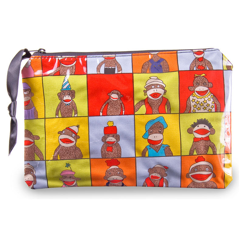 Sock Monkey Cosmetic Bag by Yancha