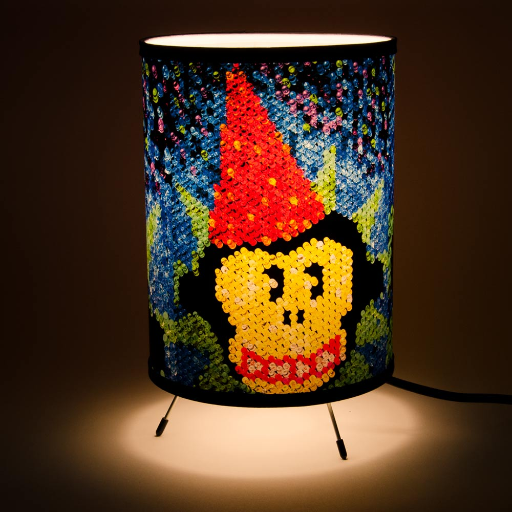 Jocko in Lite Brite Lamp