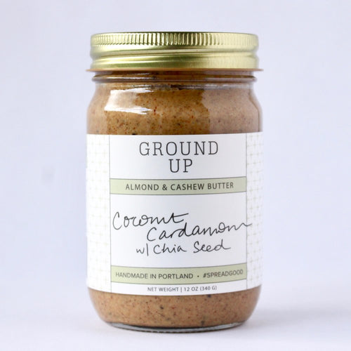 Coconut Cardamum Chia Seed Nut Butter