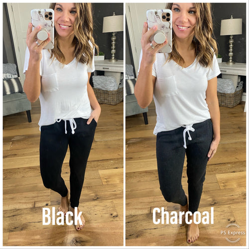 Total Comfort Banded Joggers with Drawstring- Multiple Options