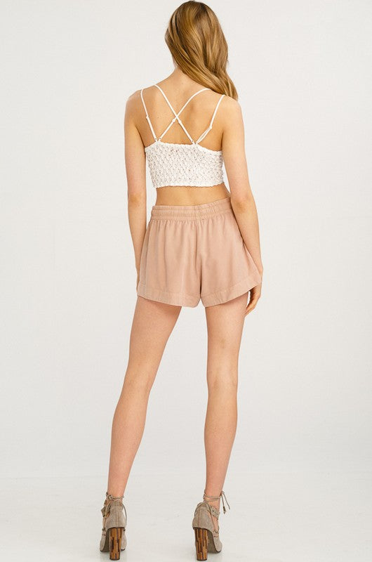 Desired Scallop Padded Bralette - Ivory
