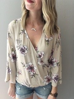 Fabulous In Floral- Taupe