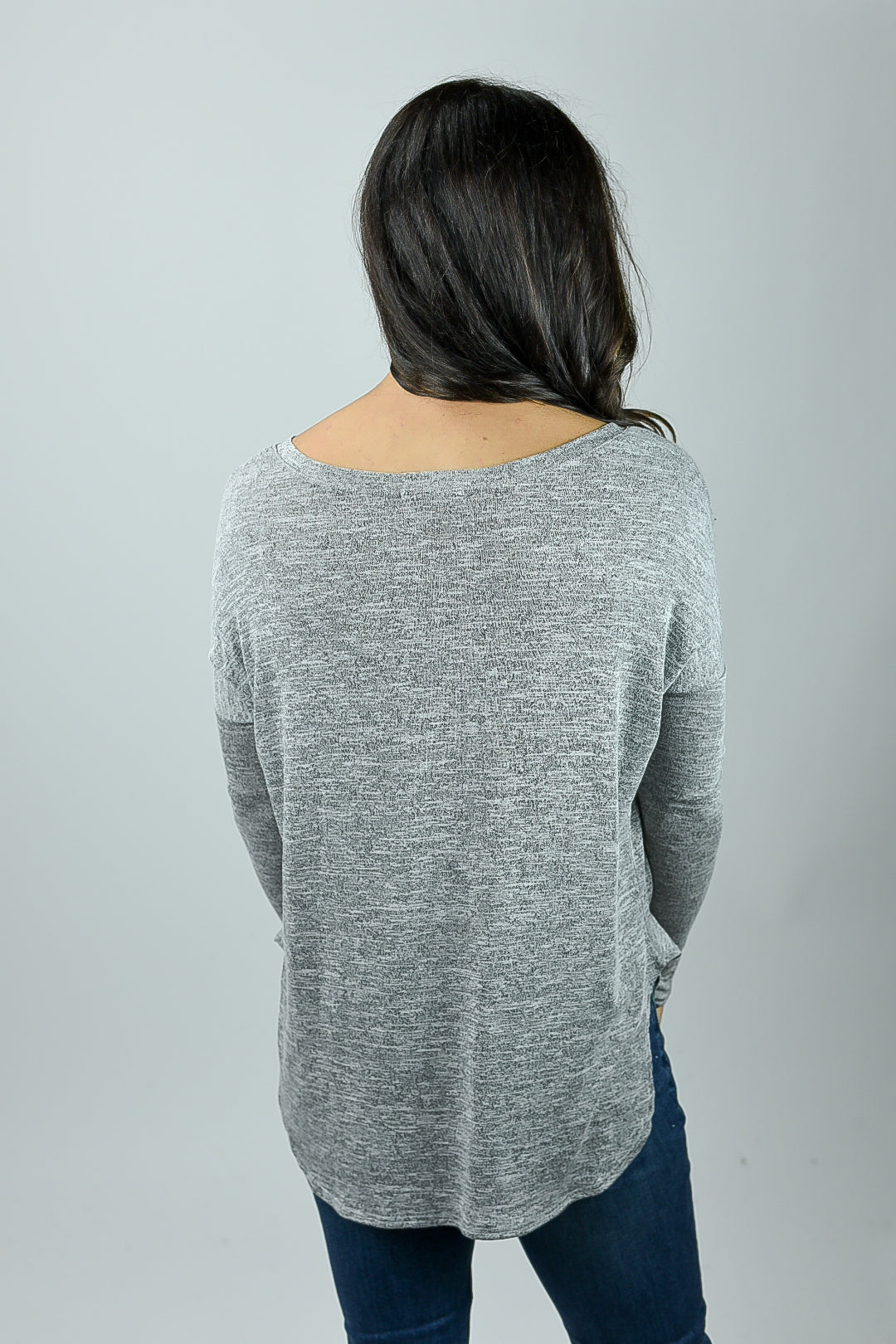 Home Again Heather Grey Lightweight Long Sleeve