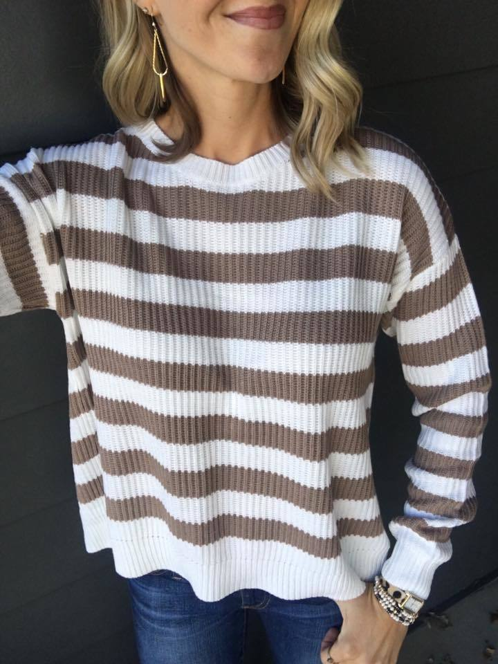 Day Trip Back Slit Sweater