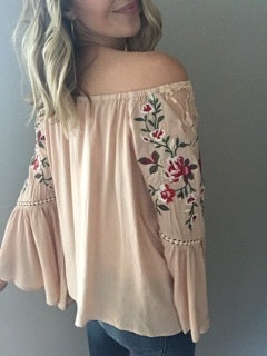 Simply Blessed Taupe Top