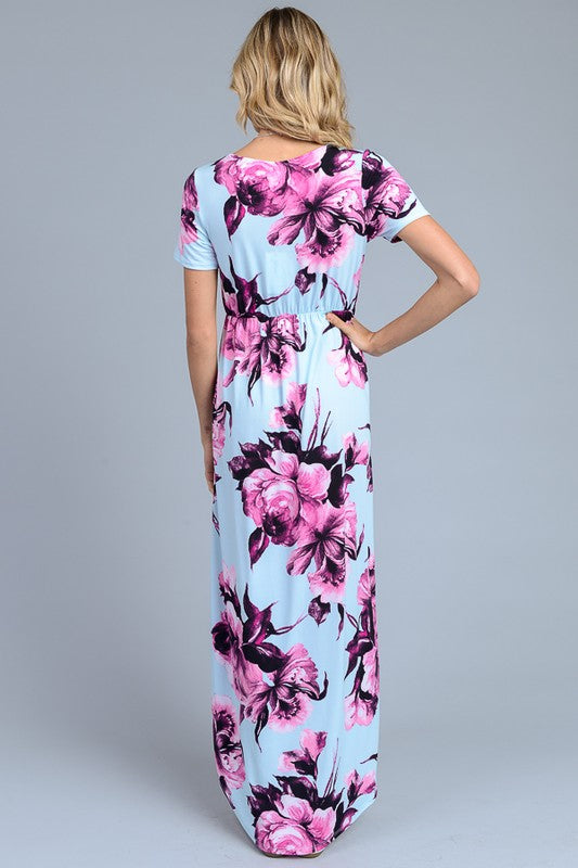 Island Hopper Floral Maxi Dress