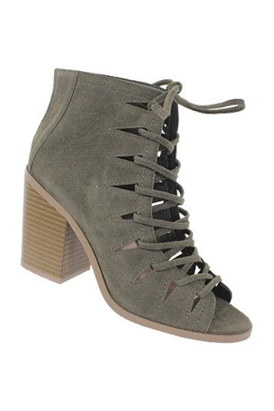 Road Less Traveled Lace Up Bootie