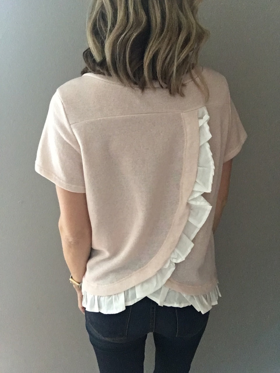 Heart To Soul Short Sleeve Top- Peach