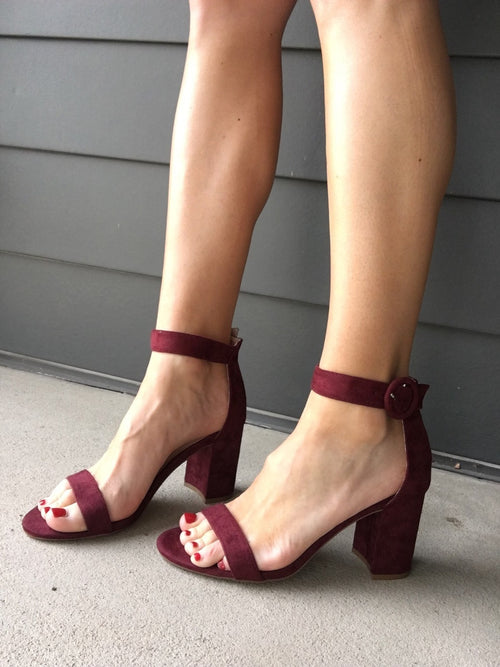 Dipped In Wine Heels