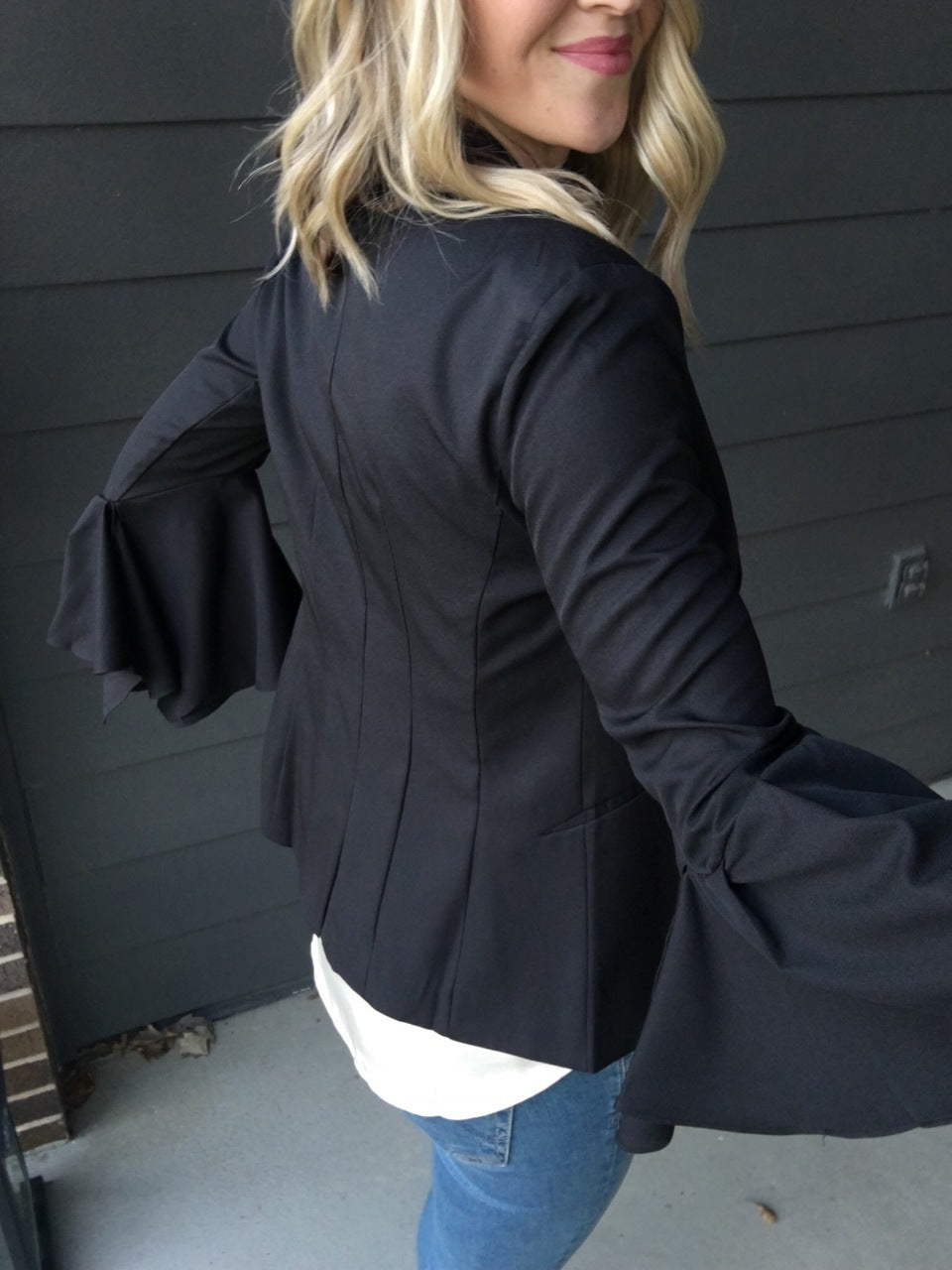 Fresh Take Blazer- Black