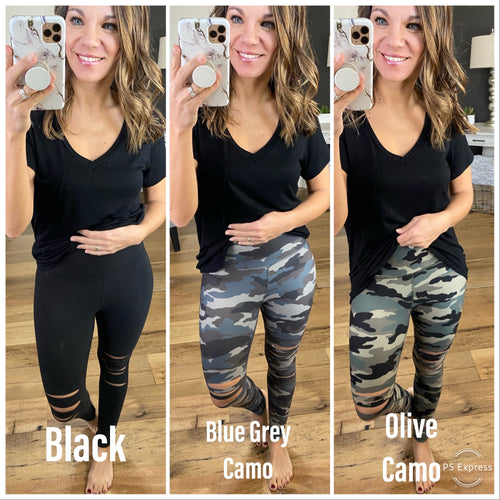 Nice For What Distressed Leggings--Multiple Options