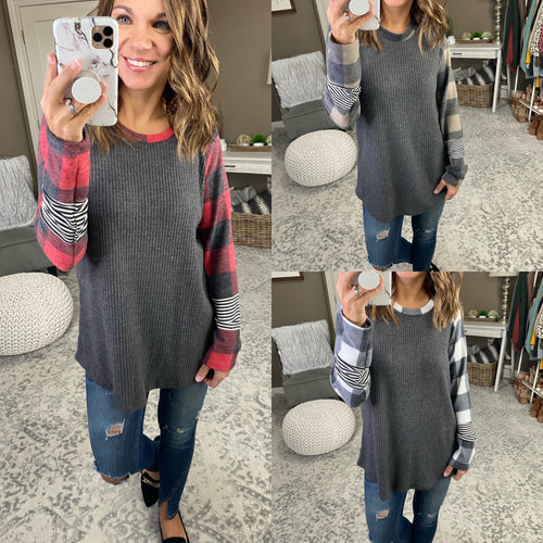 My Favorite Things Plaid Long Sleeve--Multiple Options