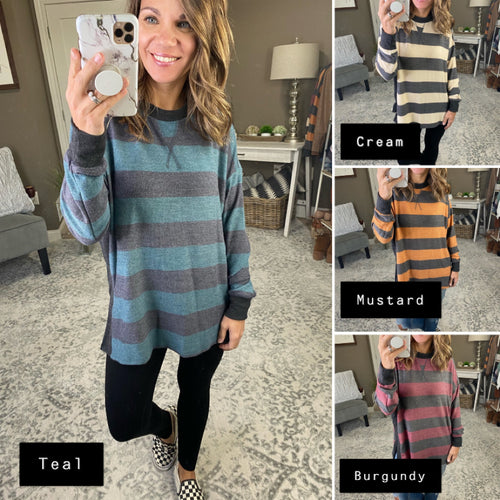 Come Home Striped Long Sleeve - Multiple Options