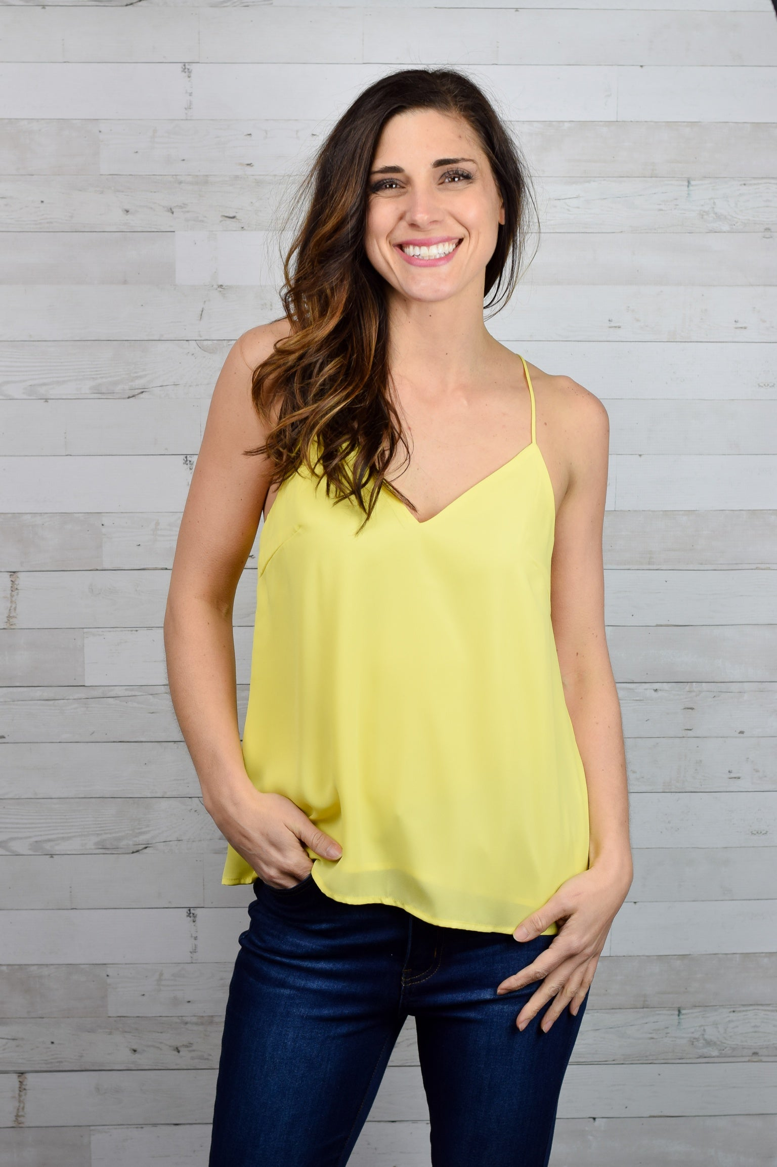 Georgia Skies Racerback Tank - Yellow