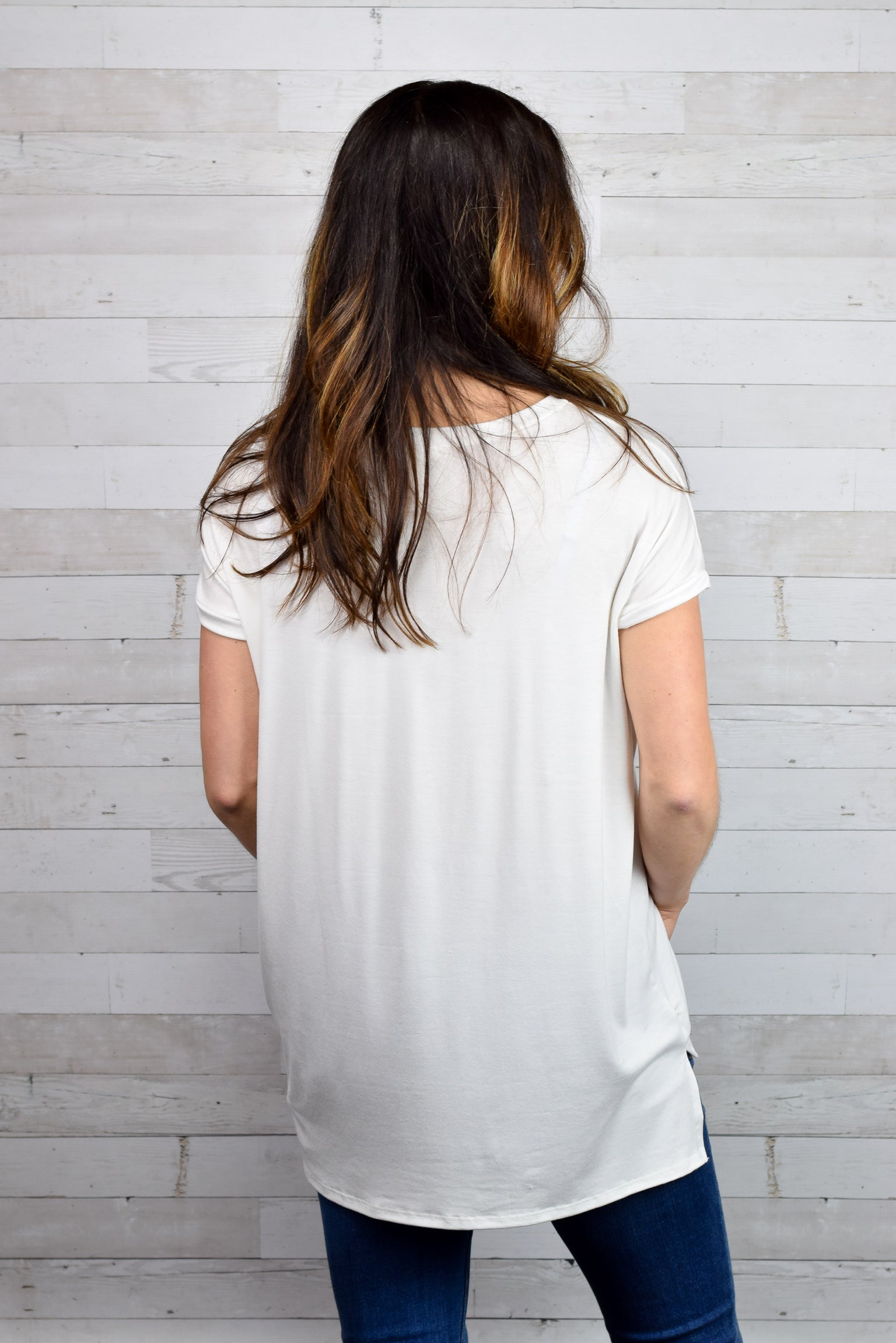 Cute & Casual Tee- Ivory