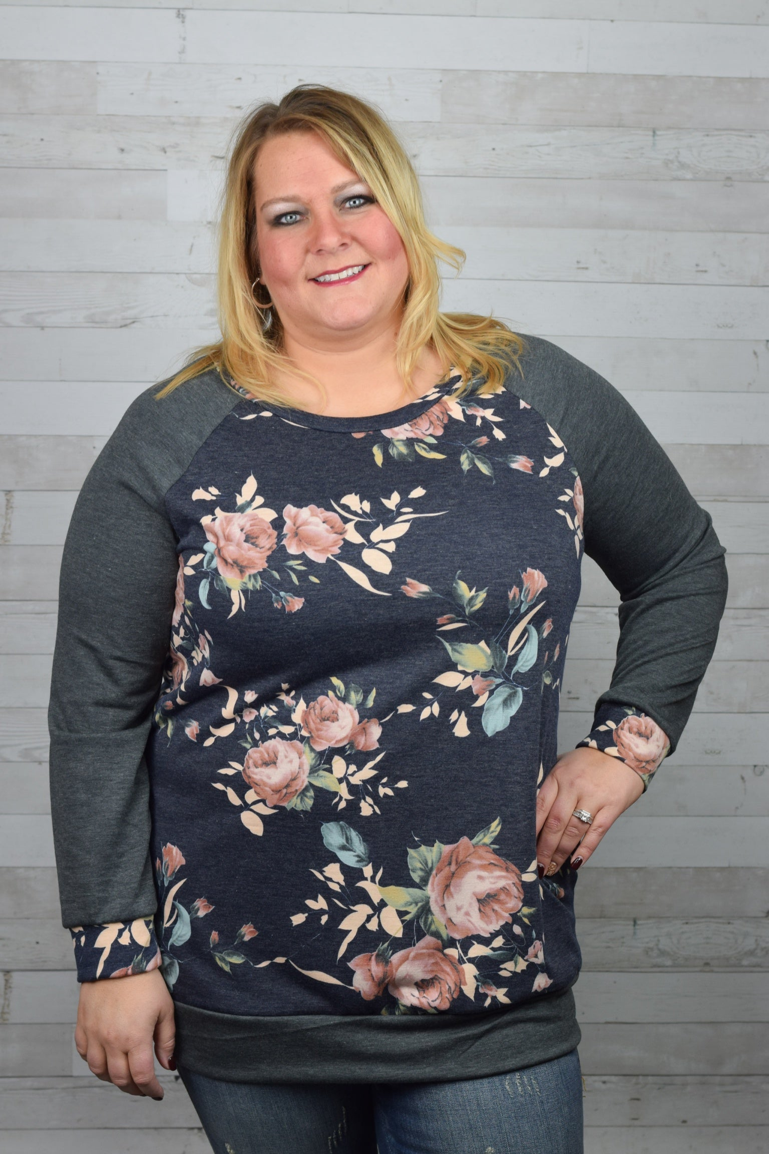 Full of Love Floral Top - Plus
