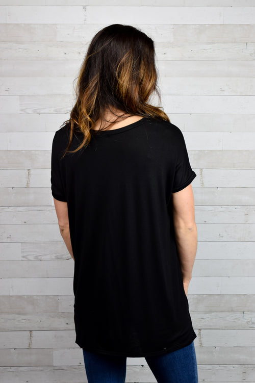 Cute & Casual Tee- Black