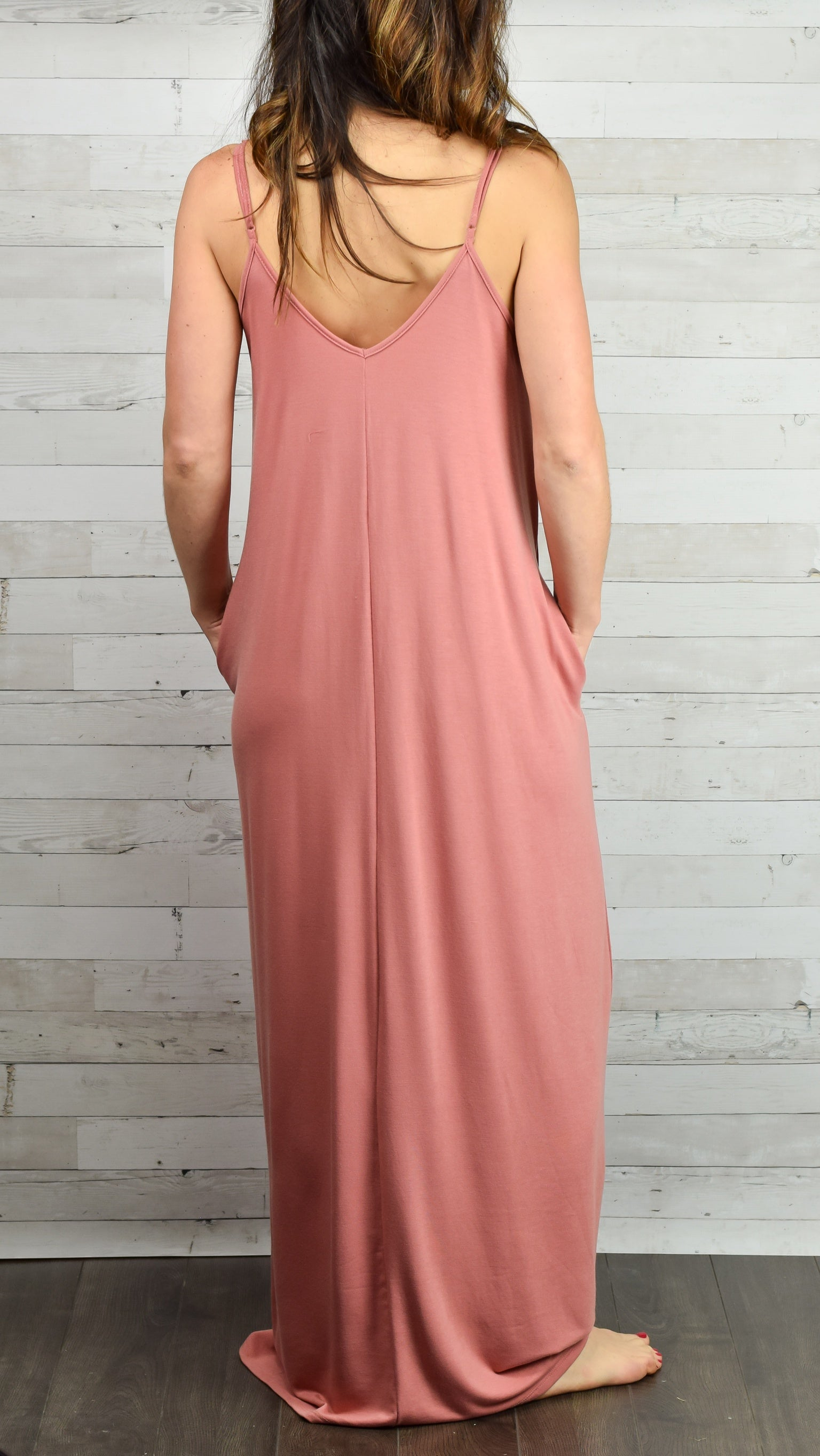 Hello Beautiful Cami Maxi Dress- Apricot