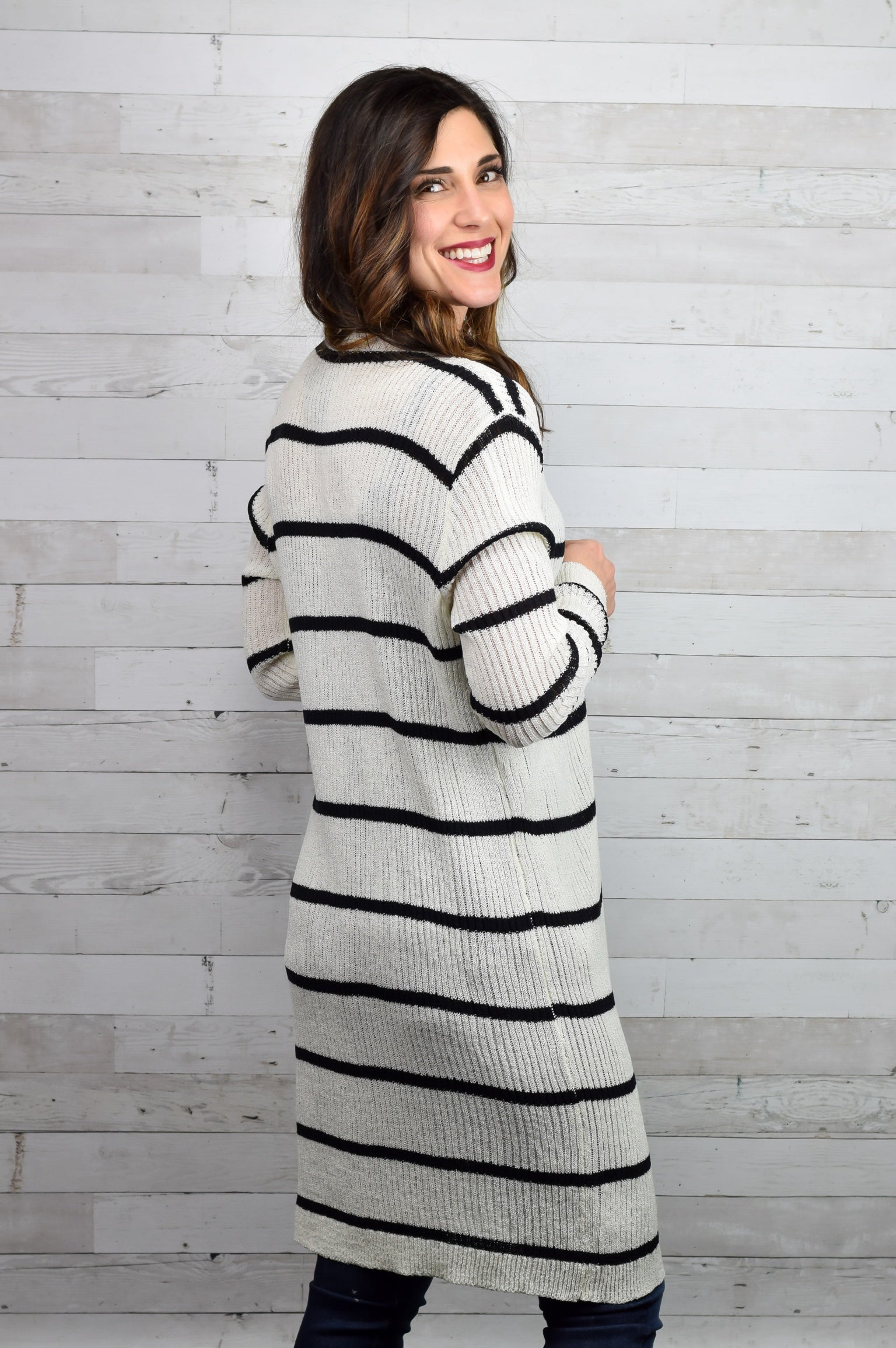 Sweet Sunsets Cardigan- black and white