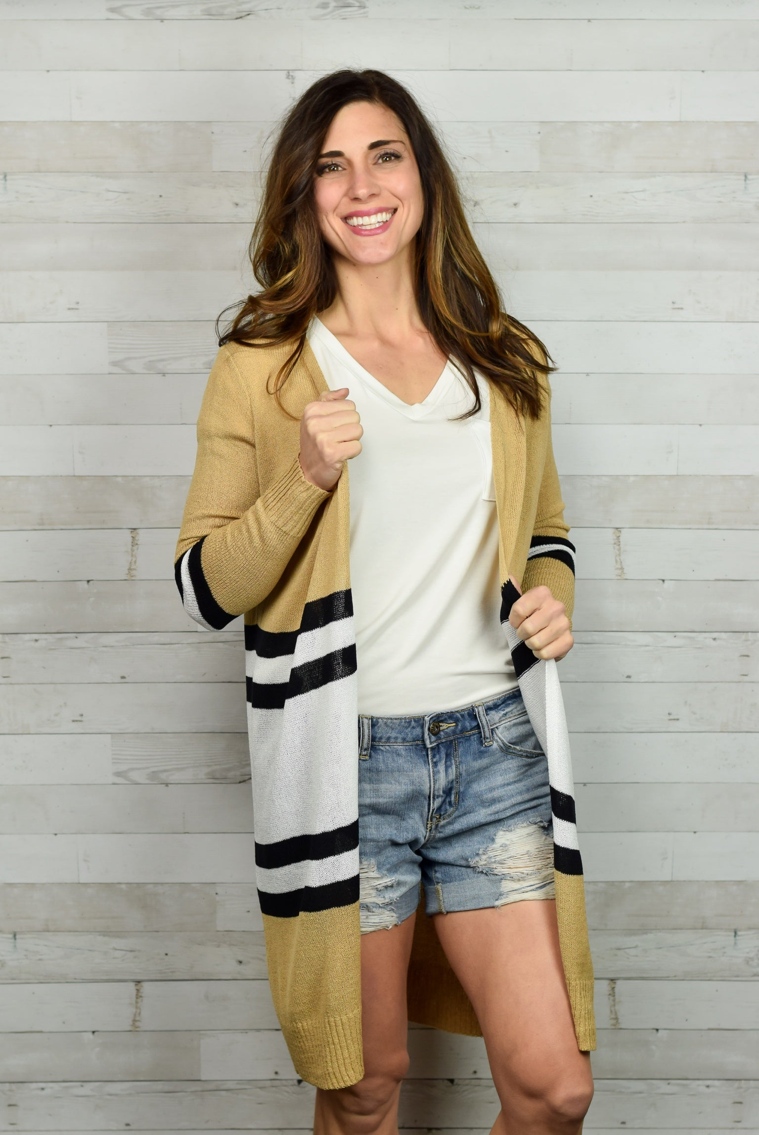 New Remix Stripe Cardigan