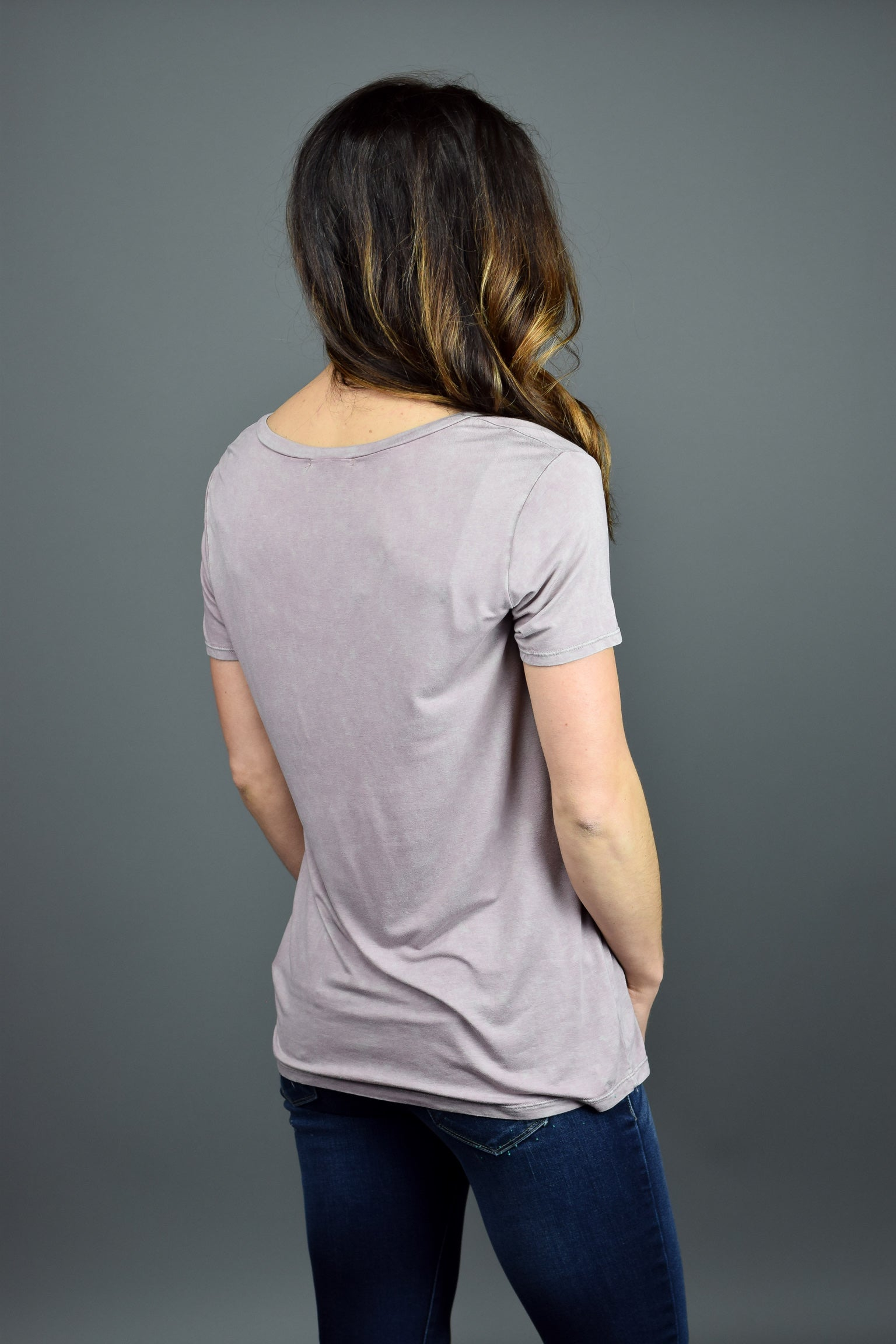 Maybe Later Lavender Vintage Washed Tee