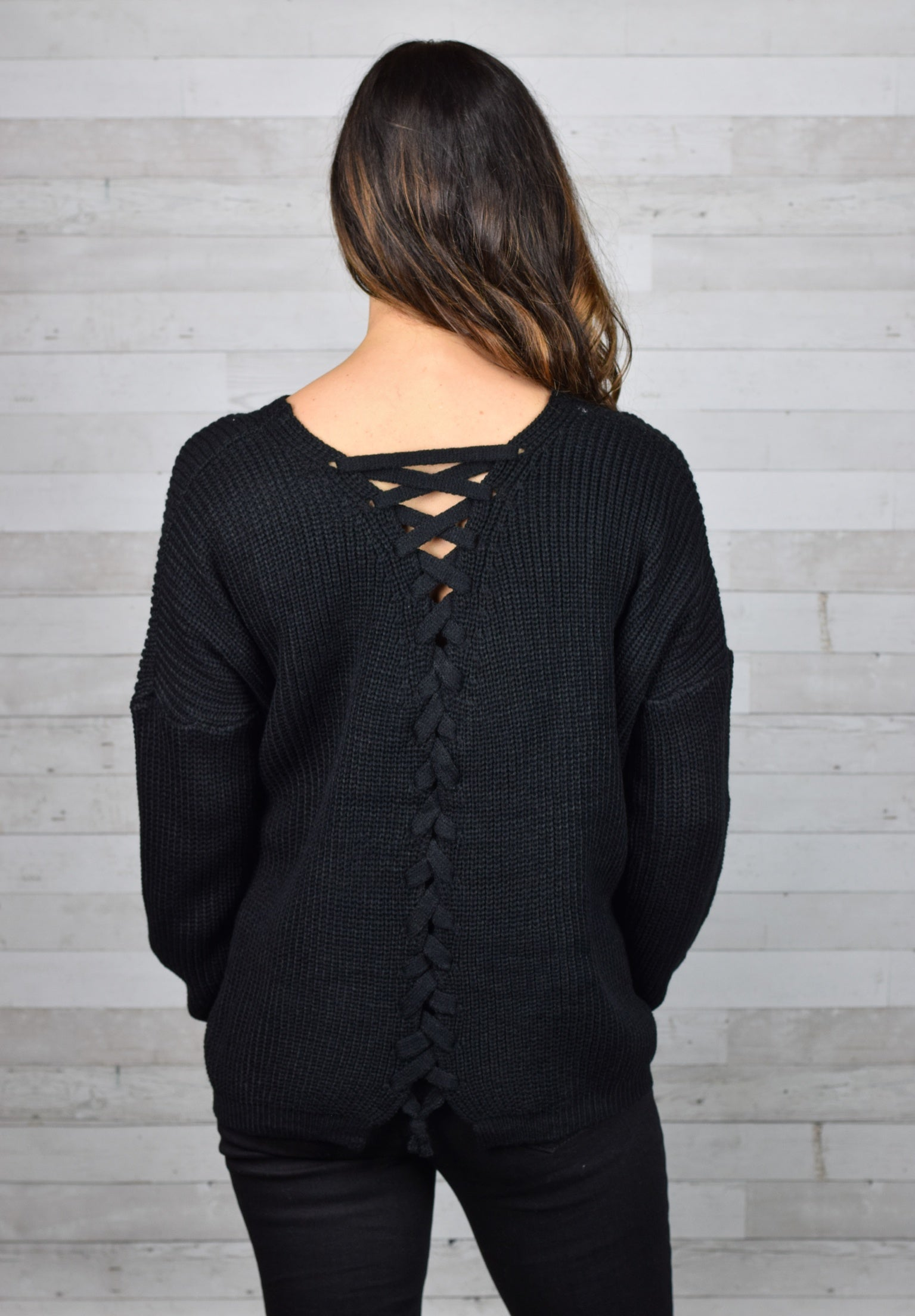 Joyous Occassion Back Tie Sweater