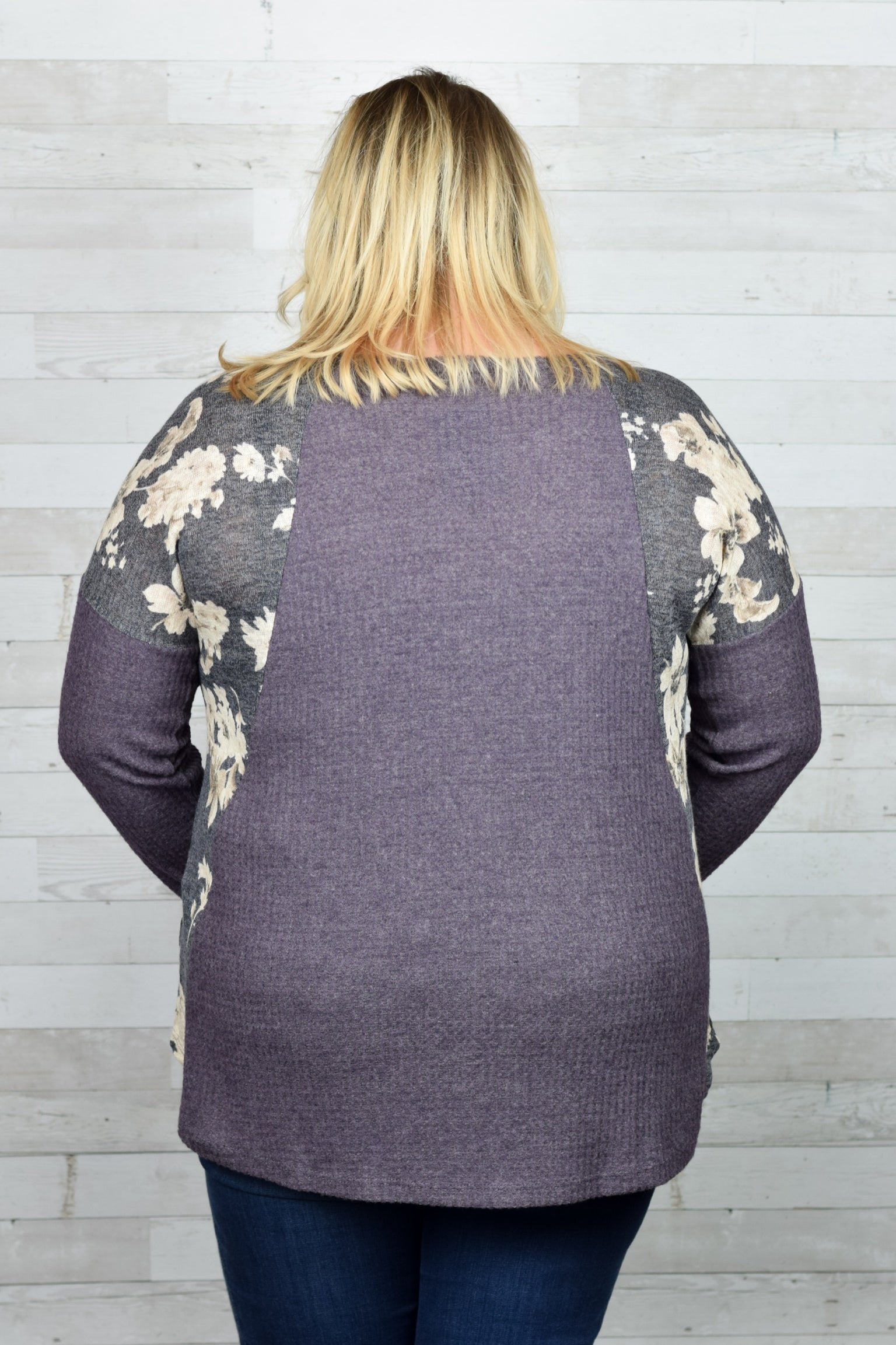 Steal A Glance Long Sleeve Top- Plus