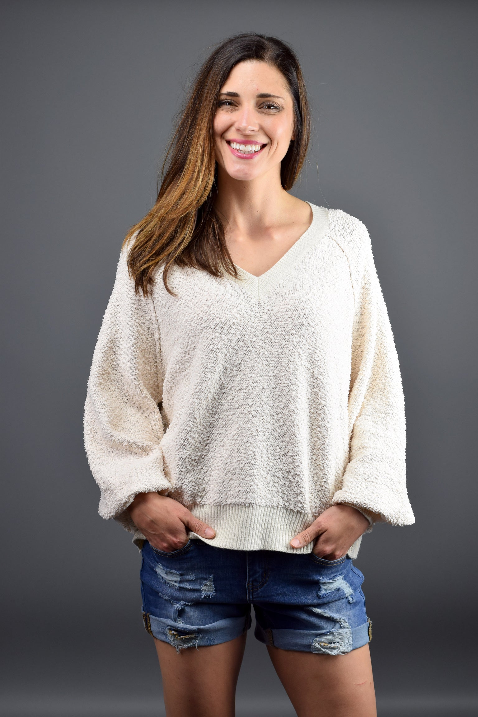 Believe in Love Sweater - Ivory