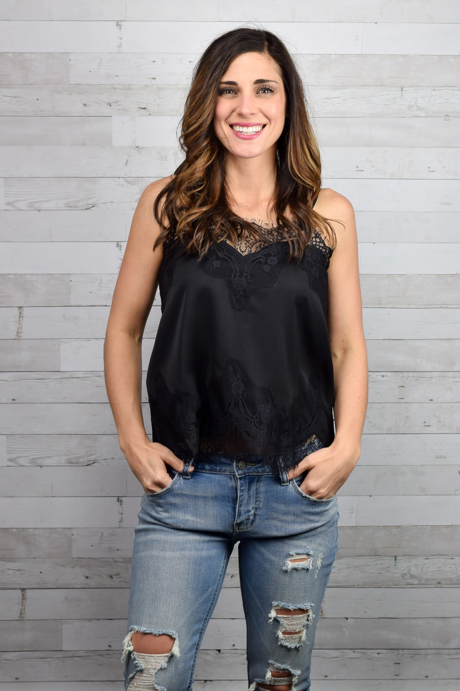 Good Intentions Lace Cami - Black