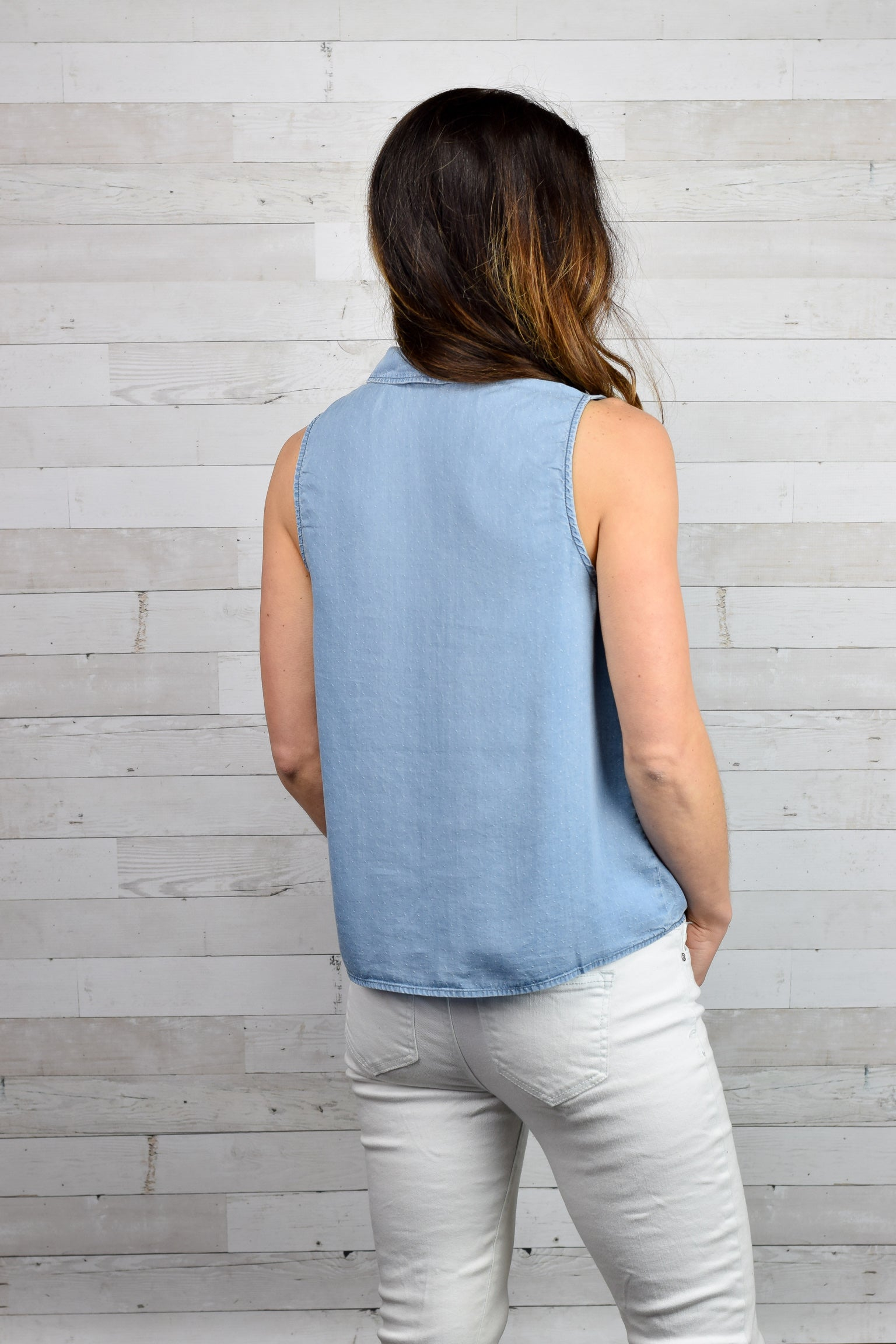 Front Porch Perfect Chambray Tank