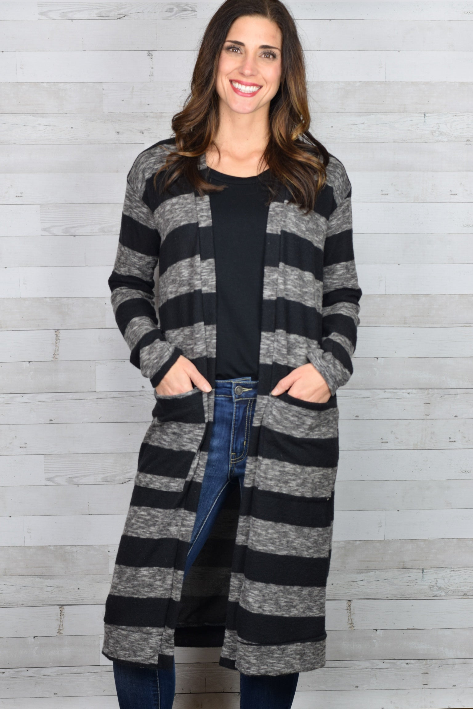 One More Round Striped Cardigan