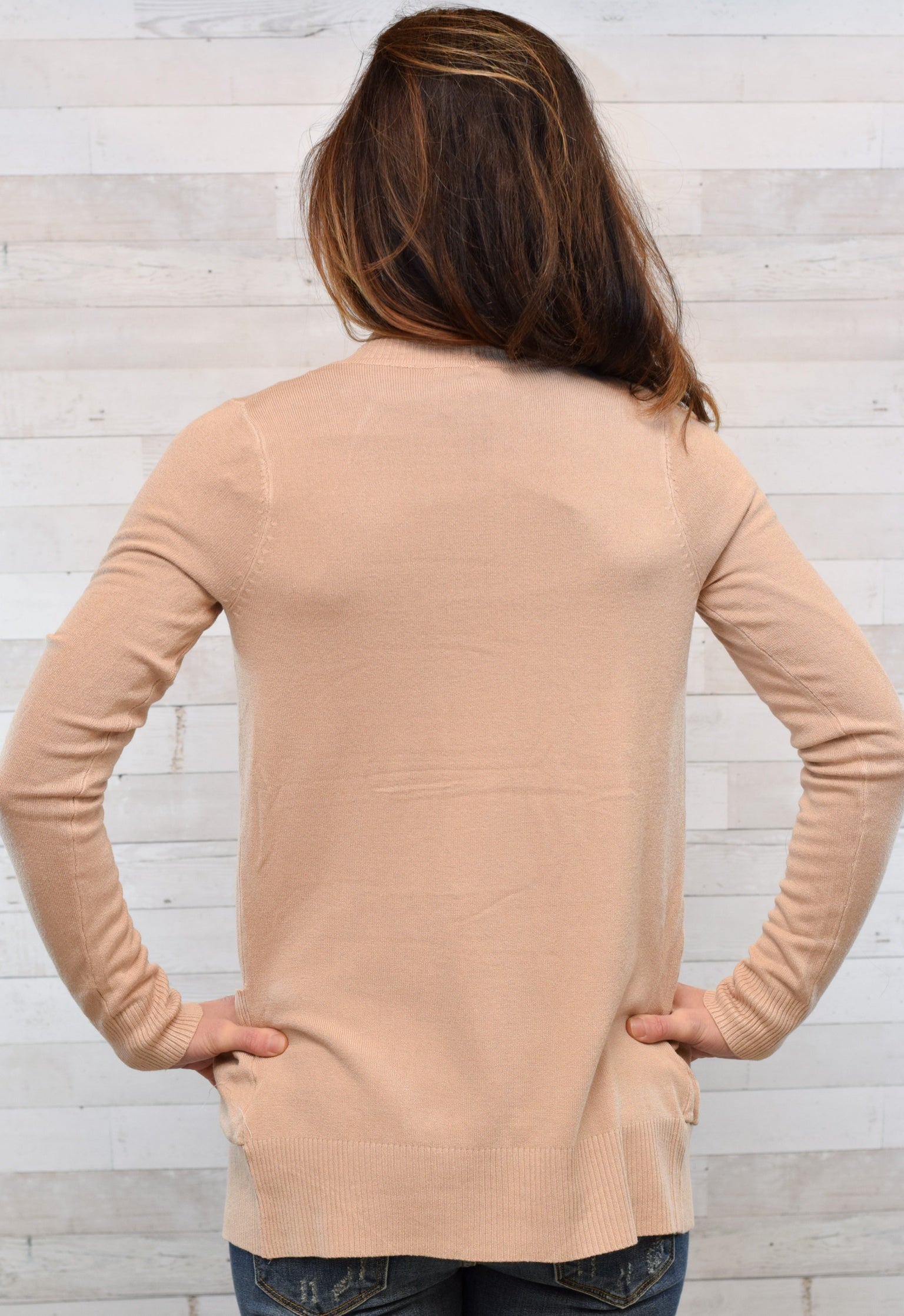 Ever So Cozy Cardigan - Tan